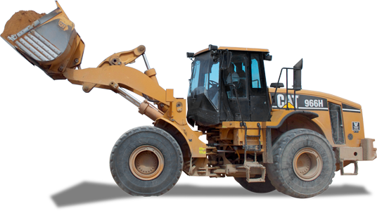 Yellow CAT Loader